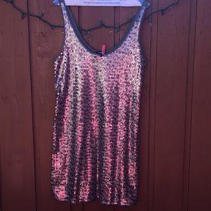 Silver and purple express glitter dress